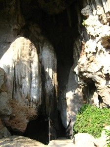 The entrance to the cave...