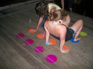 Easy access to twister resulted in many spontaneous games!
