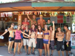 Koh Phi Phi was the best place on the trip for wild nights and parties.