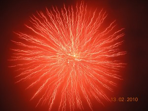 The word for fireworks in Chinese means smoke flower